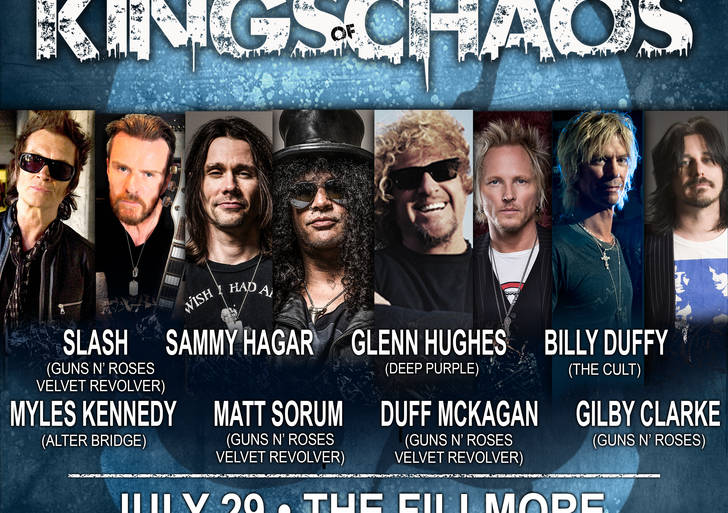 Kings of Chaos Set To Take Over the Fillmore for Dolphins Benefit